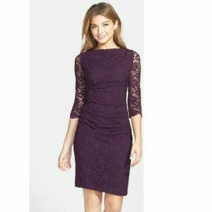 Talyor Nordstrom 6 8 Purple Lace Sheath dress